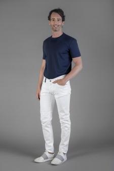Gabardine 5 tasche white