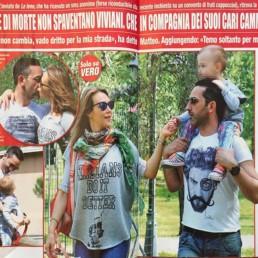 Matteo Viviani indossa una t-shirt uomo Paul Cortese
